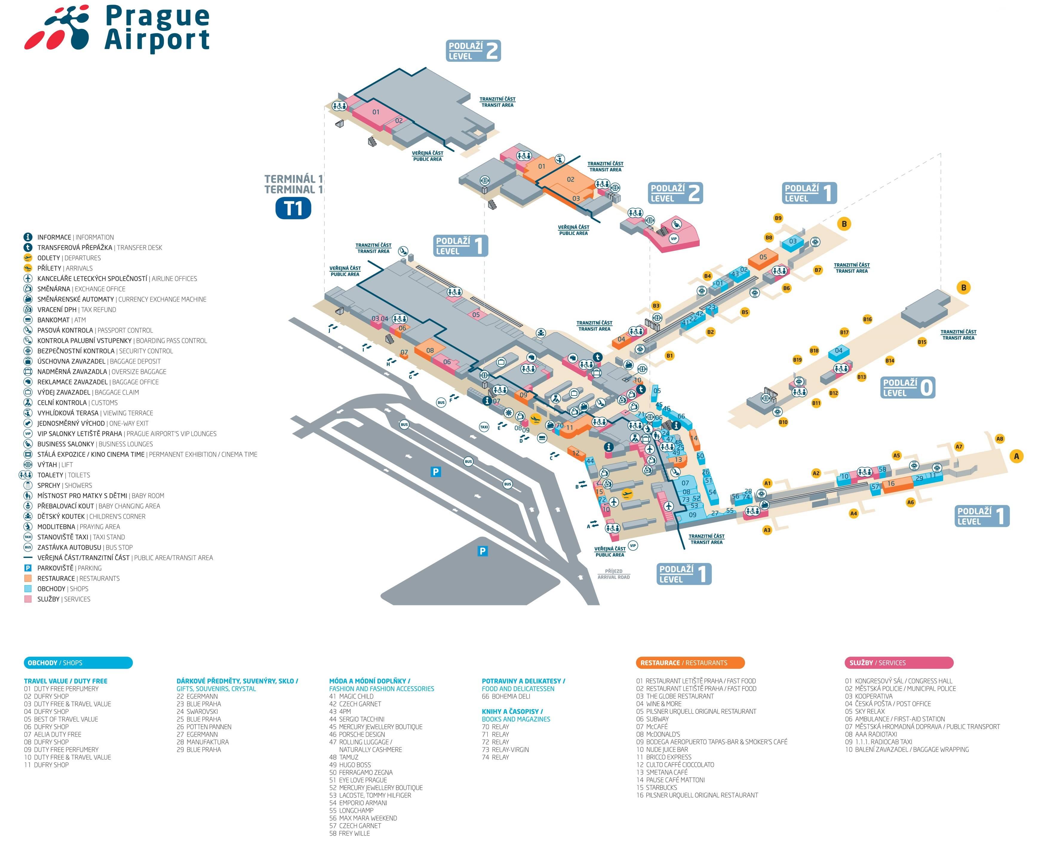 Аэропорт рузине в праге: как добраться до центра города, онлайн-табло, магазины дьюти фри в аэропорту вацлава гавела