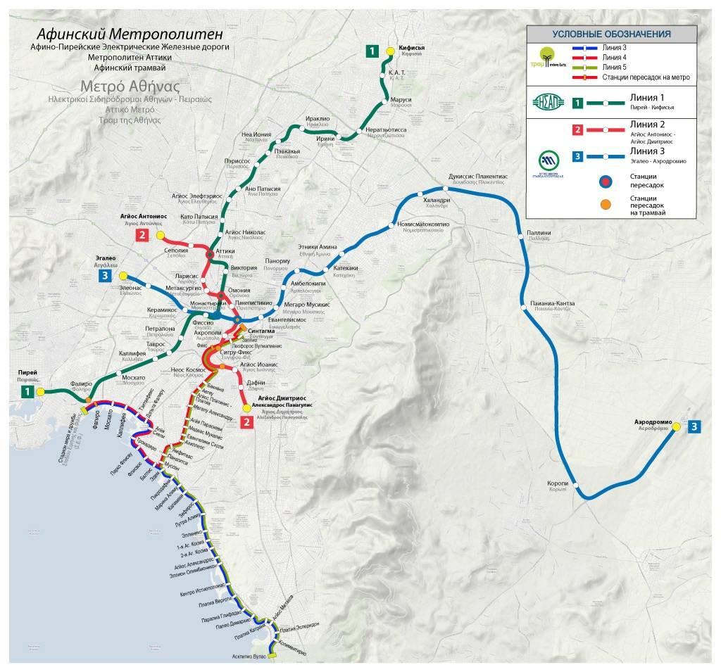 Транспорт в афинах: как работают автобусы, метро, такси
