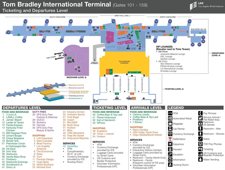Аэропорт лос-анджелеса. отели рядом, онлайн табло прилета, схема аэропорта, как добраться – туристер.ру