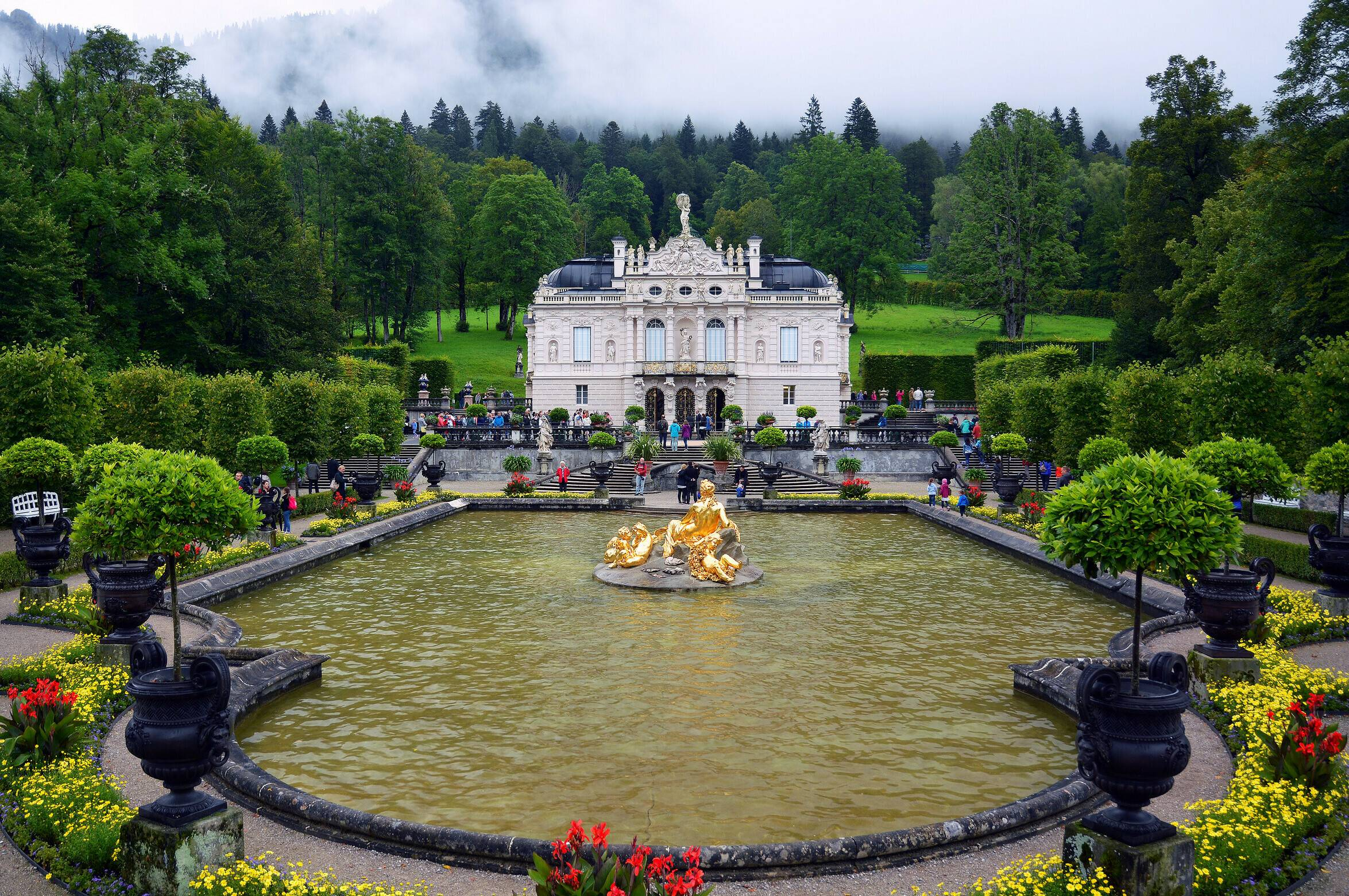 Замок и парк линдерхоф,  германия