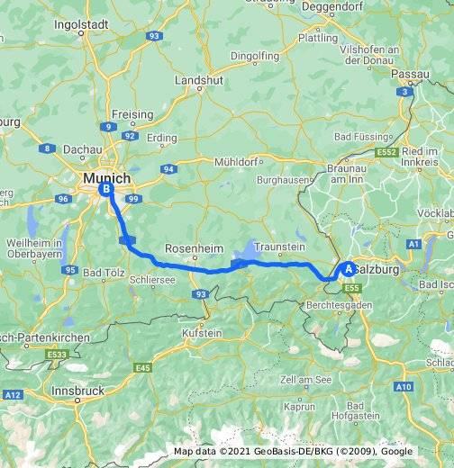 Как добраться из аэропорта мюнхена до зальцбурга