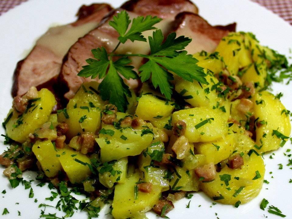 Немецкий картофельный салат рецепт с фото пошагово - 1000.menu