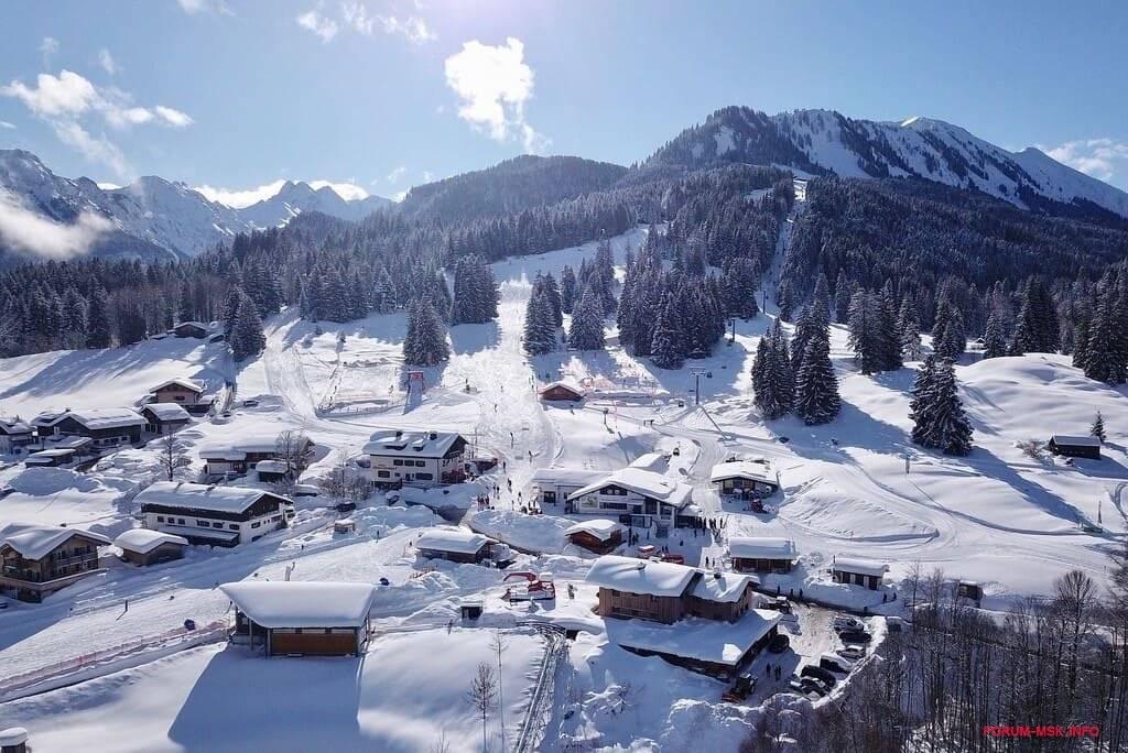 Популярные горнолыжные курорты на территории Германии