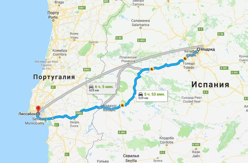 Маршруты путешествий по испании из мадрида