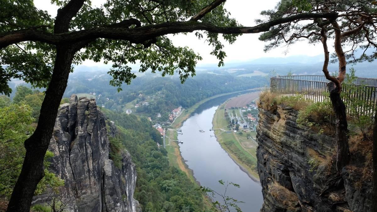 Крепость кёнигштайн и саксонская швейцария