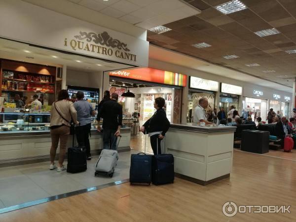 Международные аэропорты италии — список
