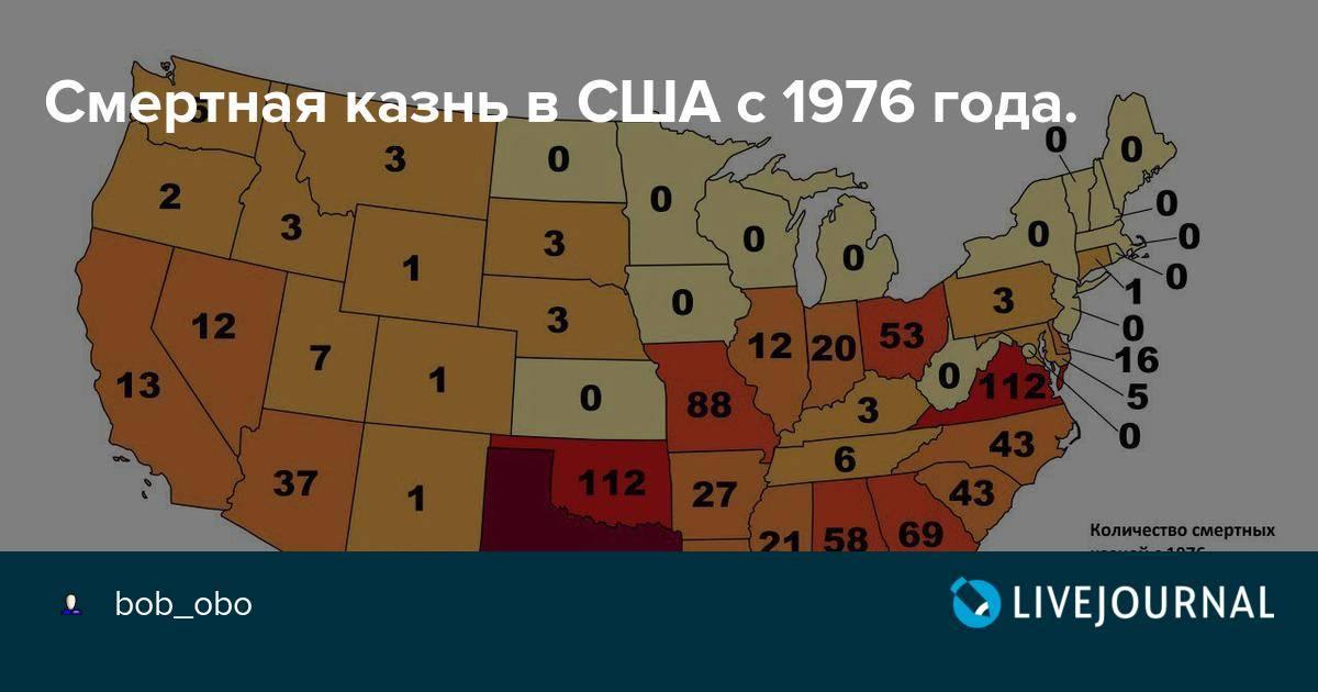 Смертная казнь в сша: есть ли, в каких штатах