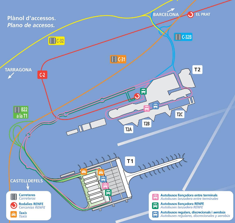 Аэропорт барселоны эль-прат: коротко о важном для туриста | путеводитель по барселоне