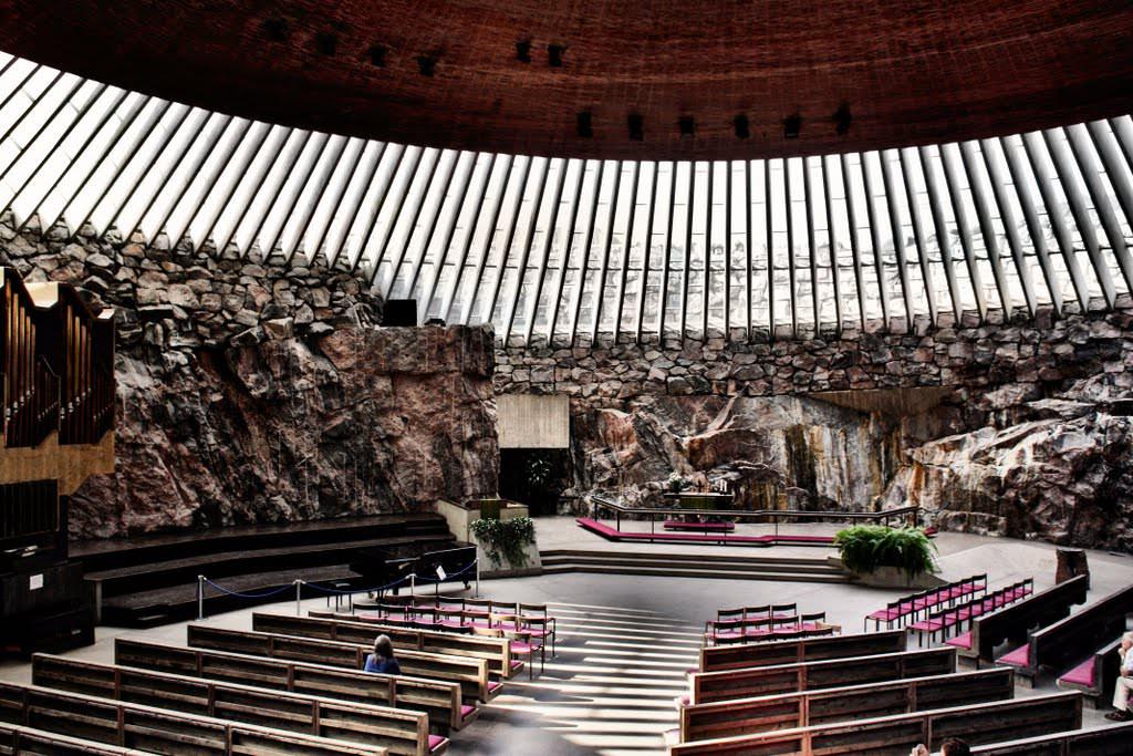 Церковь в скале в хельсинки (темппелиаукио) | life-in-finland.ru