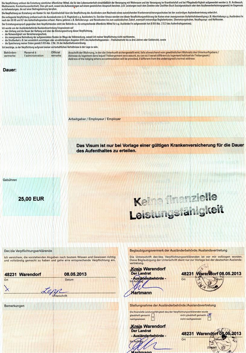Деловая виза в германию по приглашению, документы 2020 для россиян