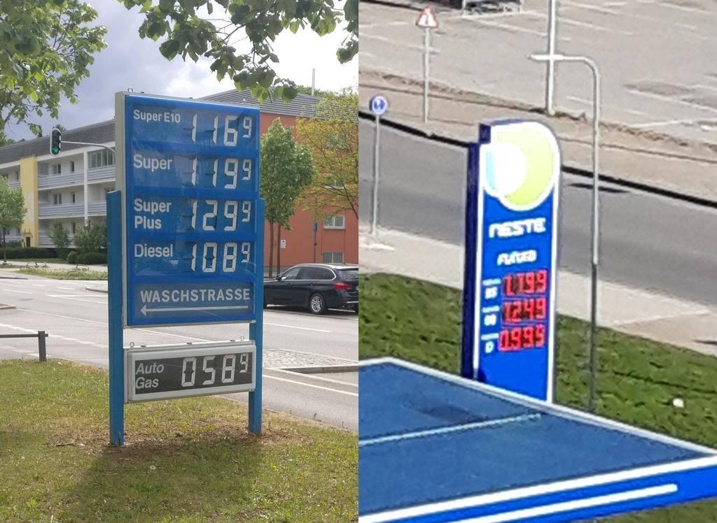 Средняя стоимость бензина в германии