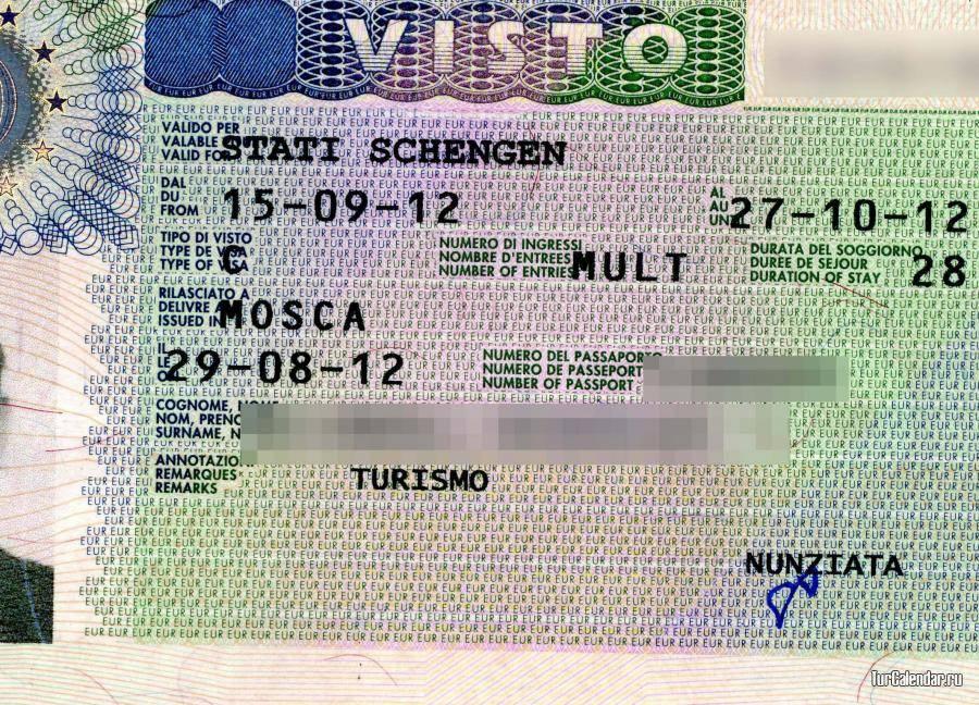 Виза в италию для россиян в 2021 году