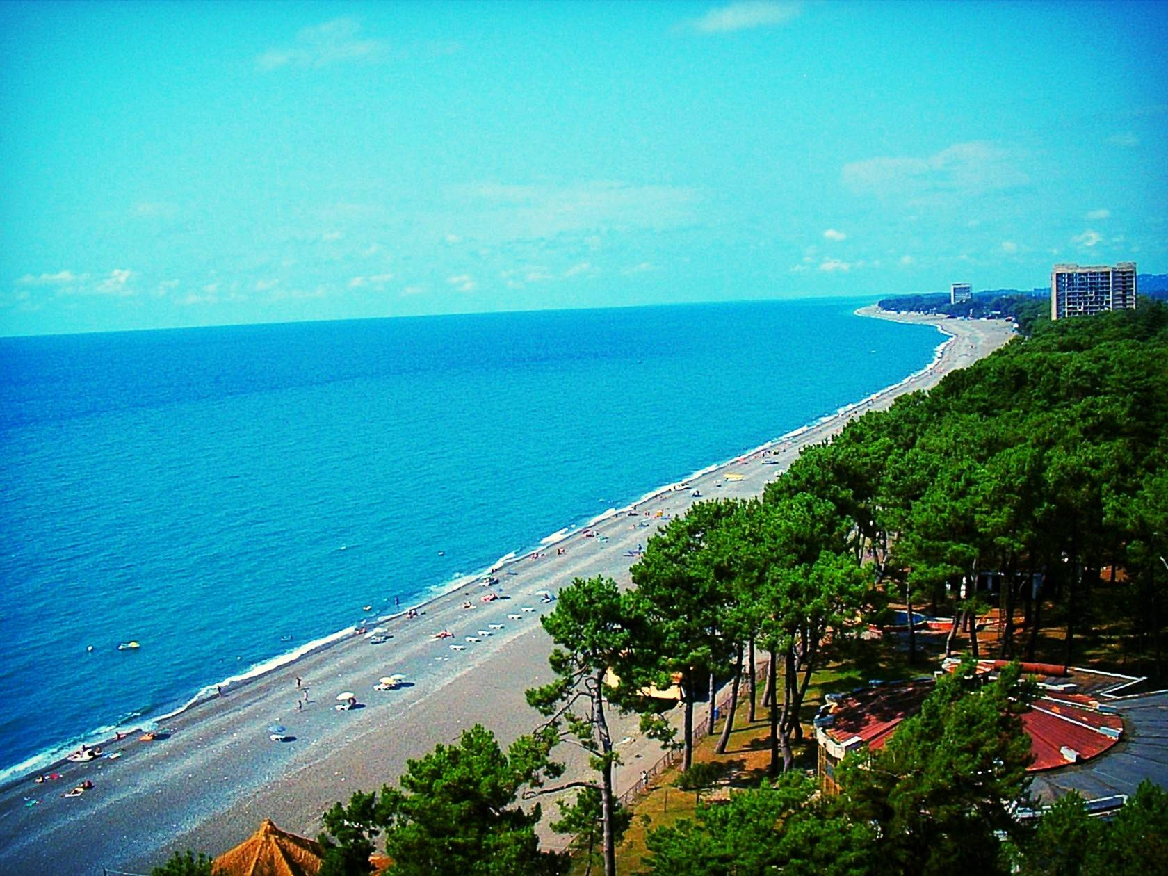 Отдых на море в грузии или куда поехать на фото с описанием: пляжный кобулети, уреки, сарпи с частным сектором и достопримечательностями, в квариати и поти на машине блокнот туриста