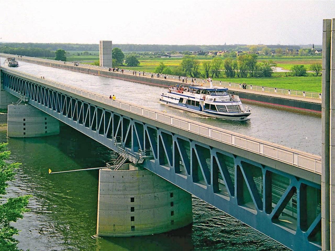 """Мост для кораблей в магдебурге – магдебургский водный мост — водяной перекресток. германия — торговый центр """"глобус экстрим"""""""