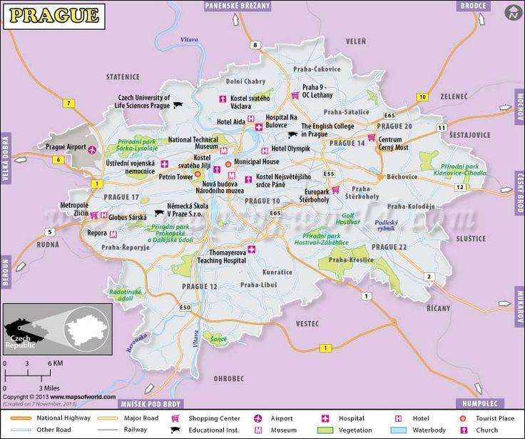 Карта праги, чехия