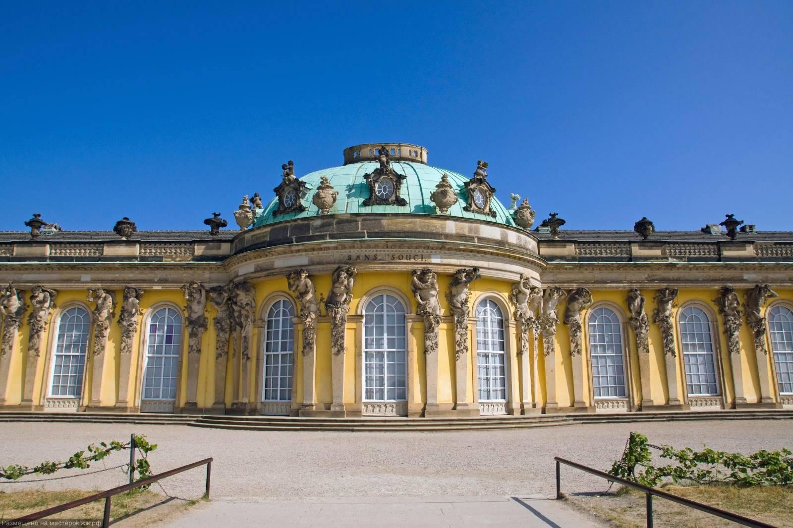 Сан-суси, потсдам, германия: описание парка и дворца с фото