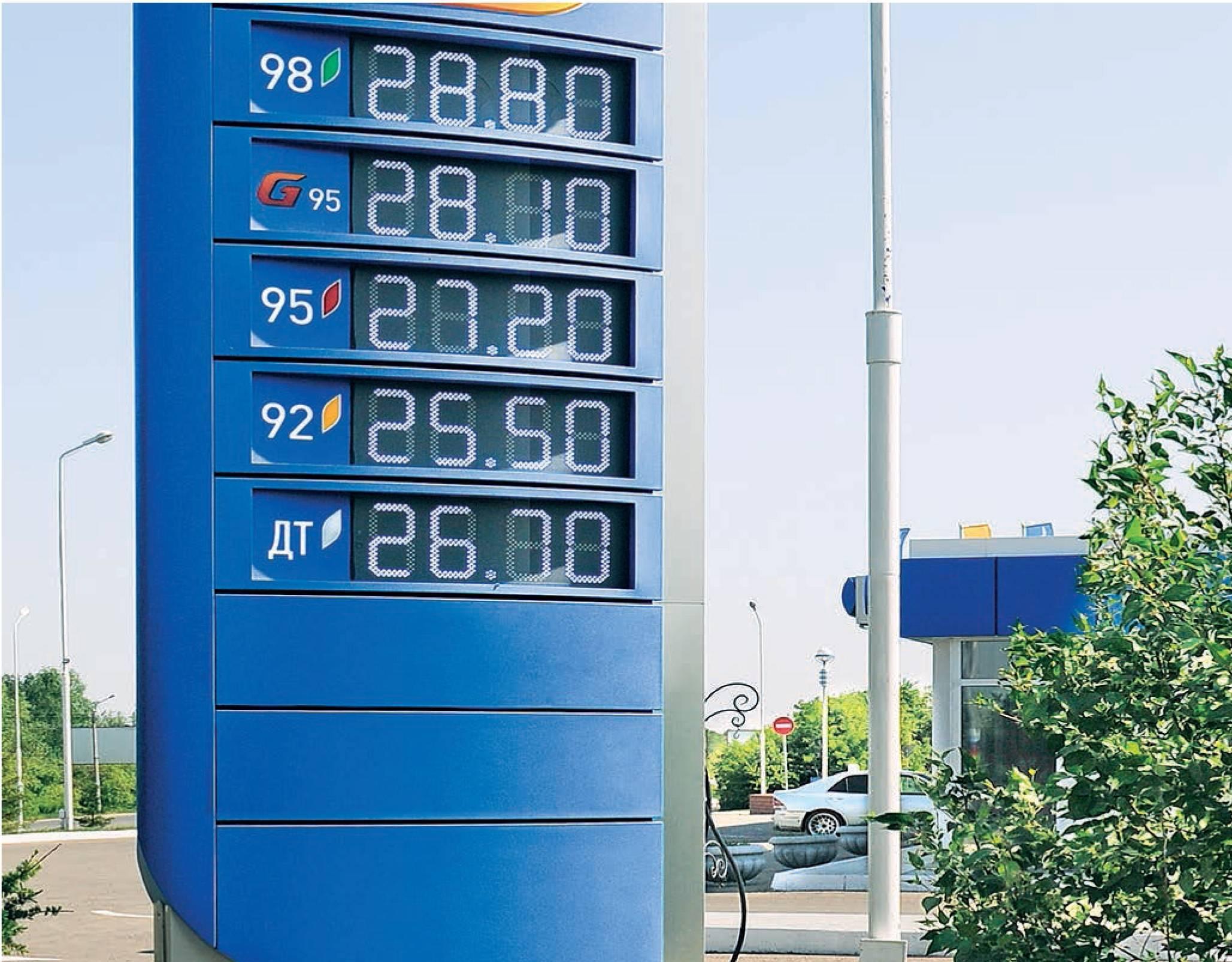 Средняя стоимость бензина в испании