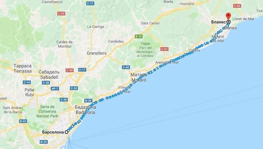 Как быстро и дешево добраться из Бланеса в Барселону
