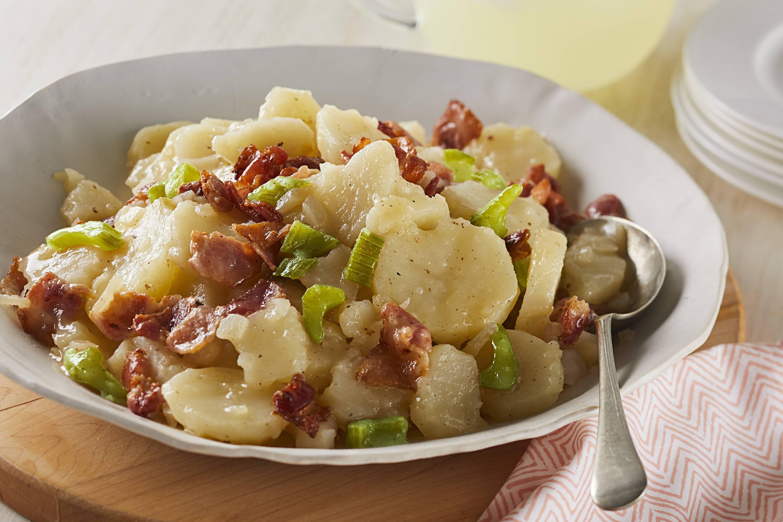 Немецкий классический картофельный салат - пошаговый фоторецепт