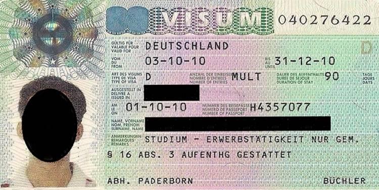 Пошаговый процесс получения национальной визы в германию