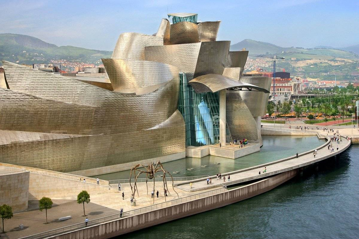 Музей современного искусства соломона гуггенхайма, бильбао, испания