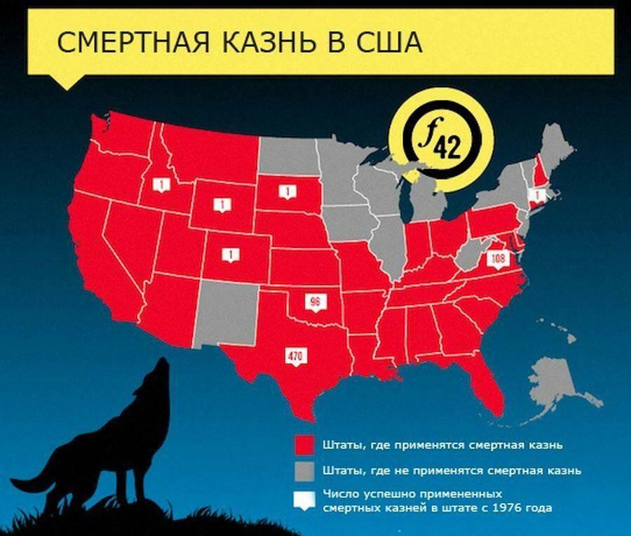 Смертная казнь в сша. в каких штатах сша есть смертная казнь? :: syl.ru