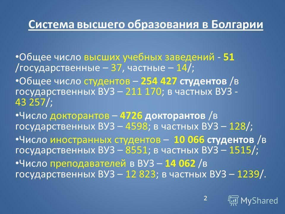 Вузы болгарии: университеты и институты, поступление и обучение