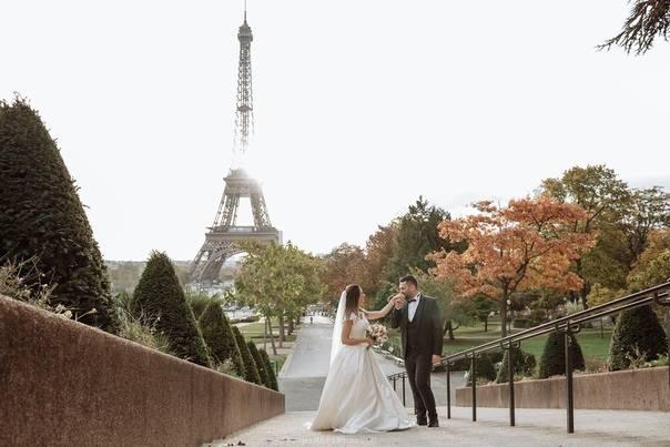 Свадьба в париже, красивая сказка о любви. идеи с фото