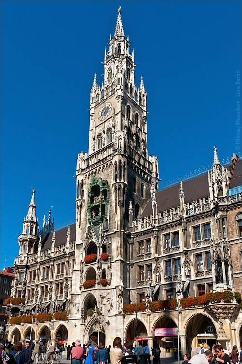 Неоготический памятник – Новая ратуша в Мюнхене