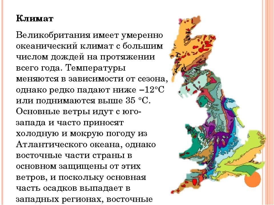 Великобритания: географическое положение на карте, природные ресурсы и официальное название