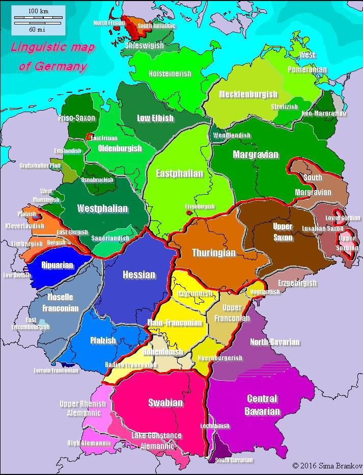 На каком языке говорят в германии: диалекты