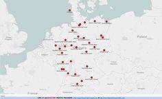 Международные аэропорты германии на карте: полный список, названия аэропортов