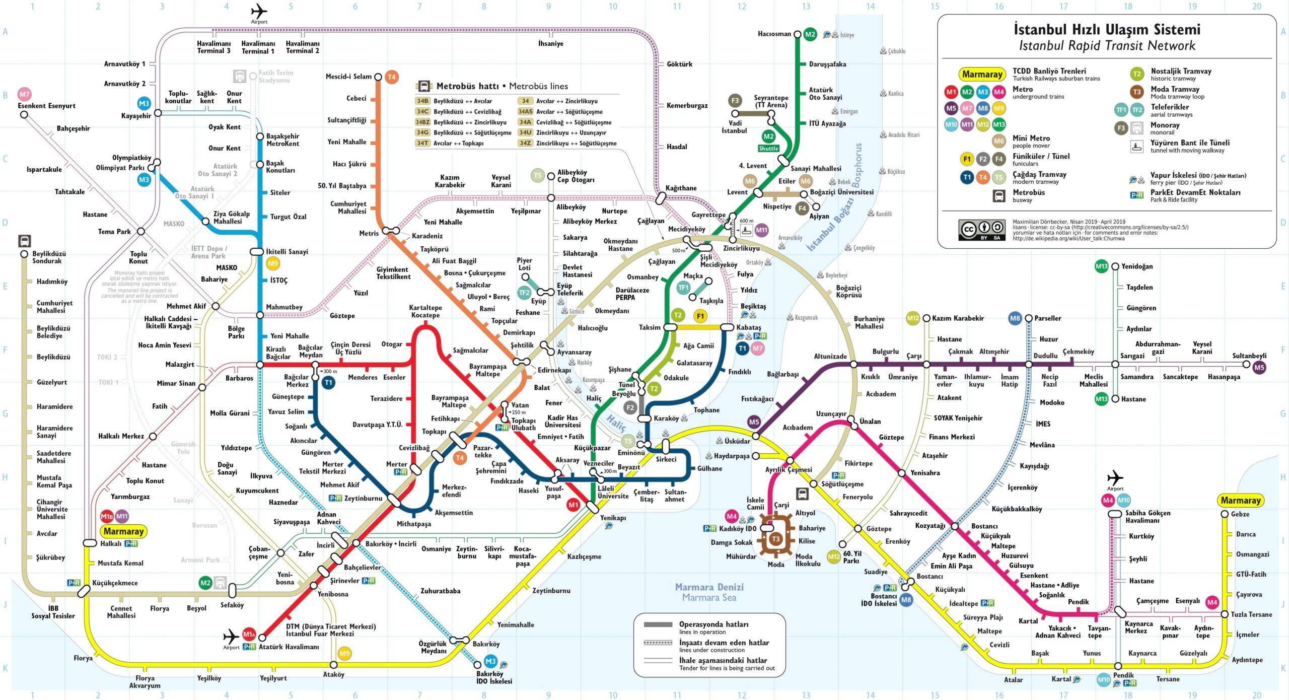 Istanbulkart, стоимость проезда в стамбуле на метро, трамвае, автобусах - 2021