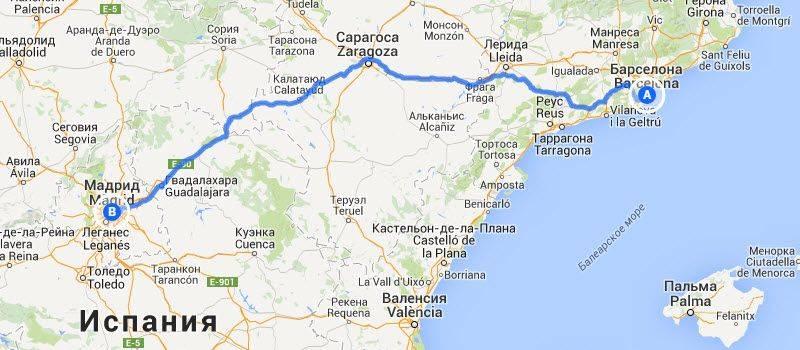 Маршруты самостоятельных путешествий по испании из мадрида