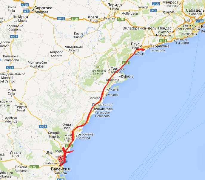 Валенсия - бареслона: расстояние, как добраться, сколько км?