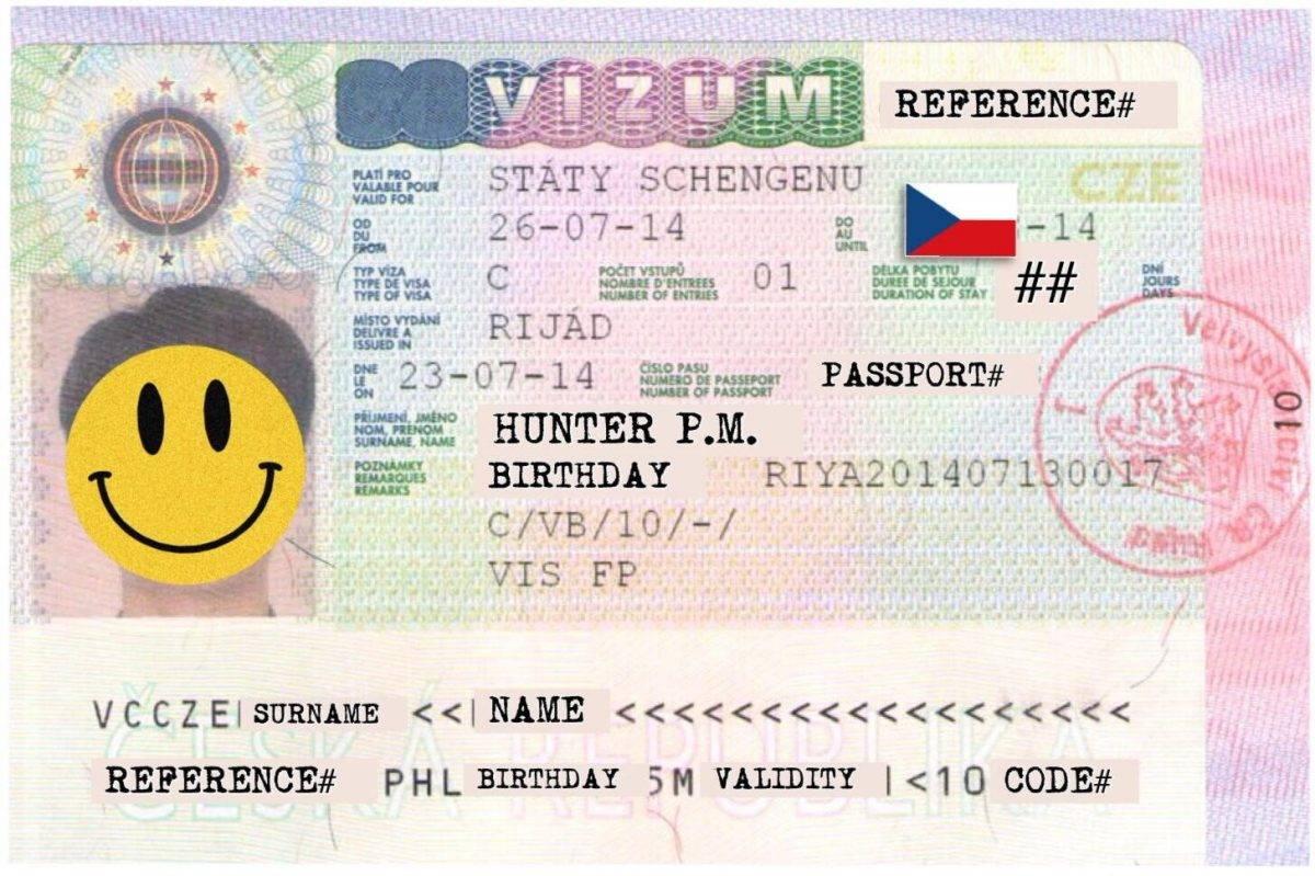 Самостоятельное получение шенгенской визы в чехию 2021 — документы, образец, стоимость