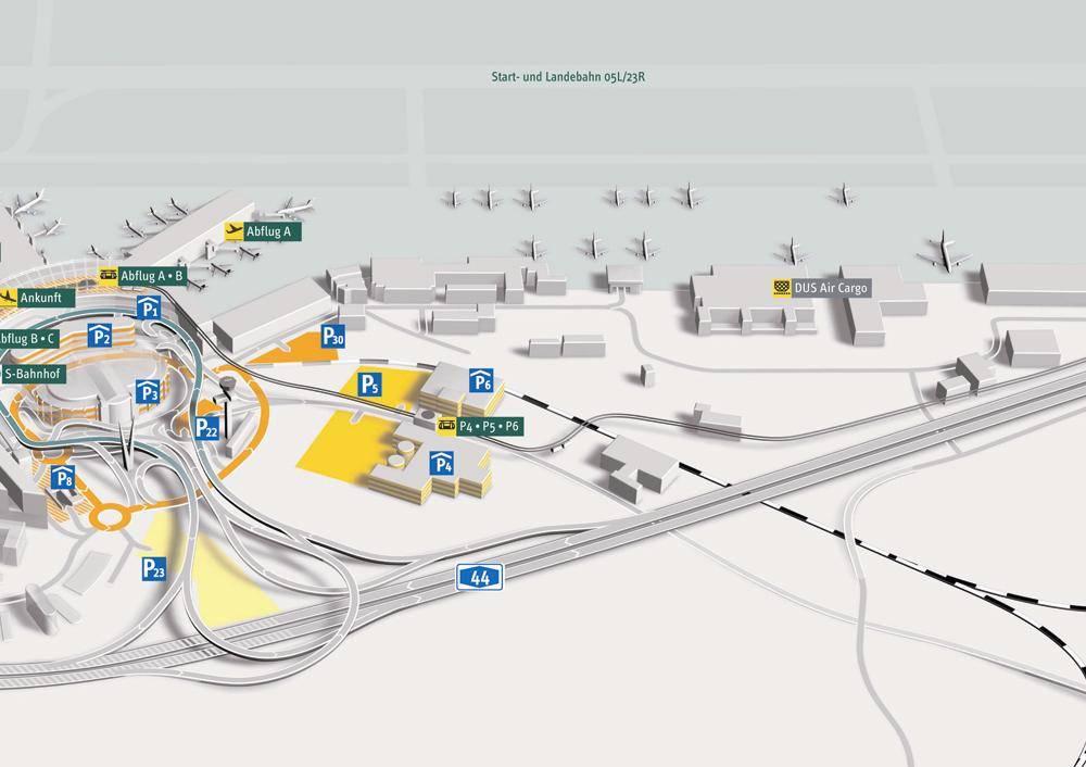 Немецкий международный аэропорт в дюссельдорфе