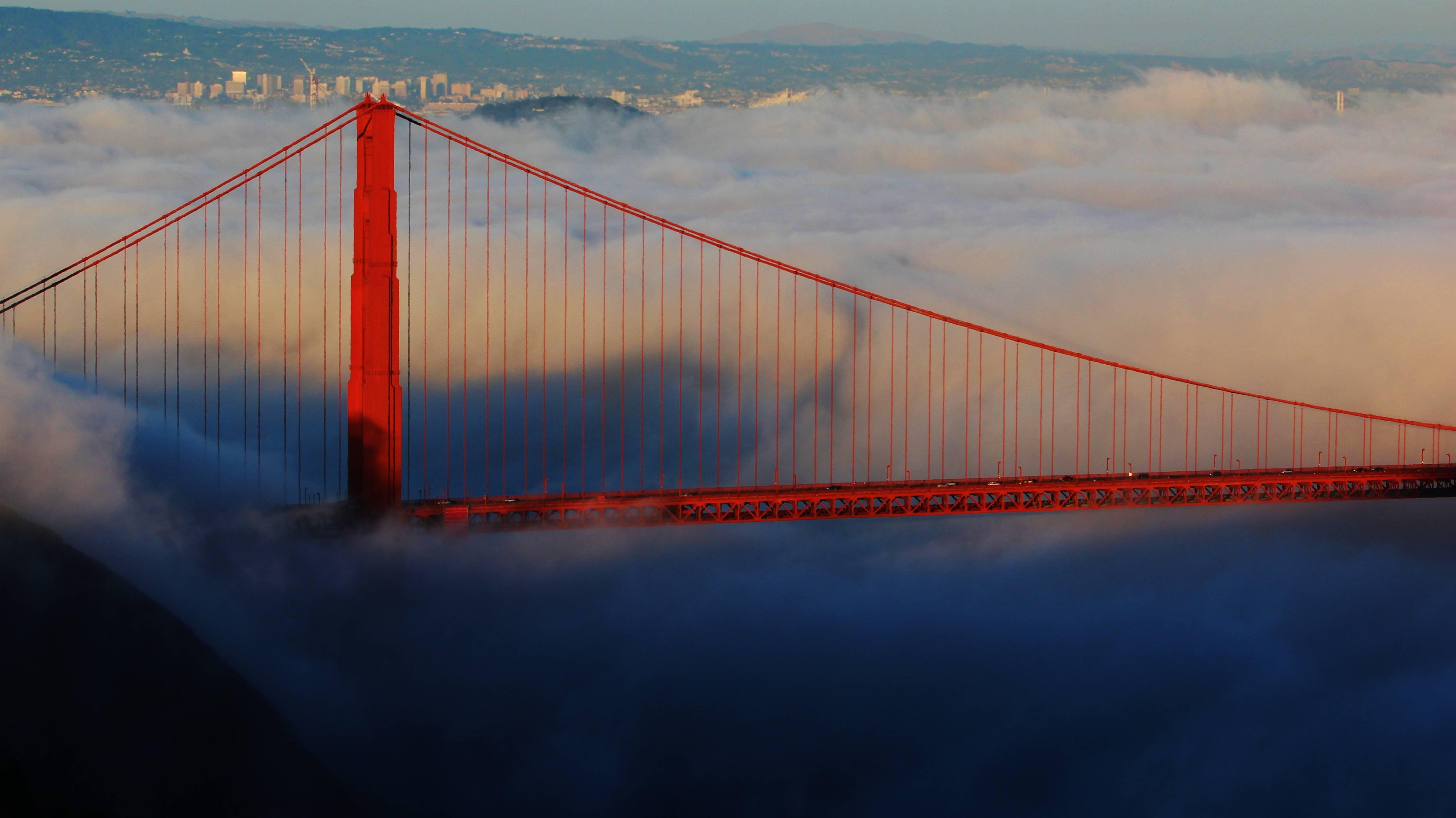 Обзор золотых ворот — знаменитого моста в сан-франциско