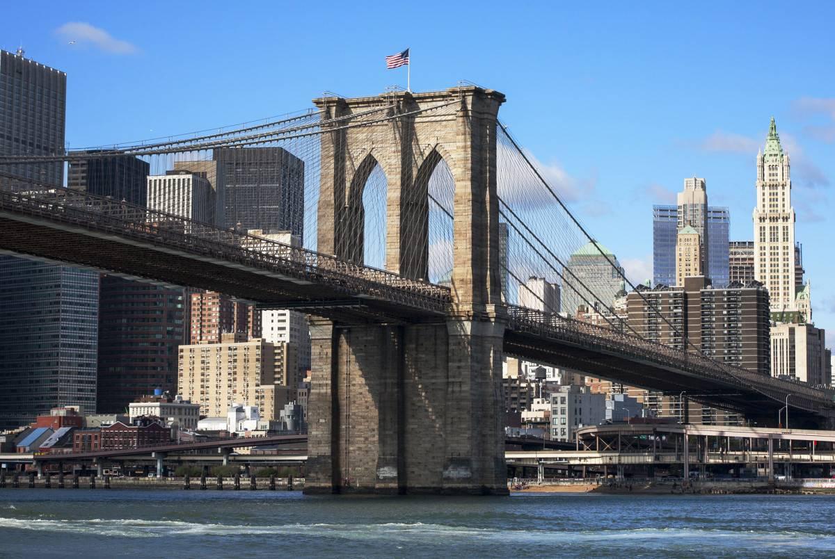 Бруклинский мост - архитектурный шедевр города нью йорк